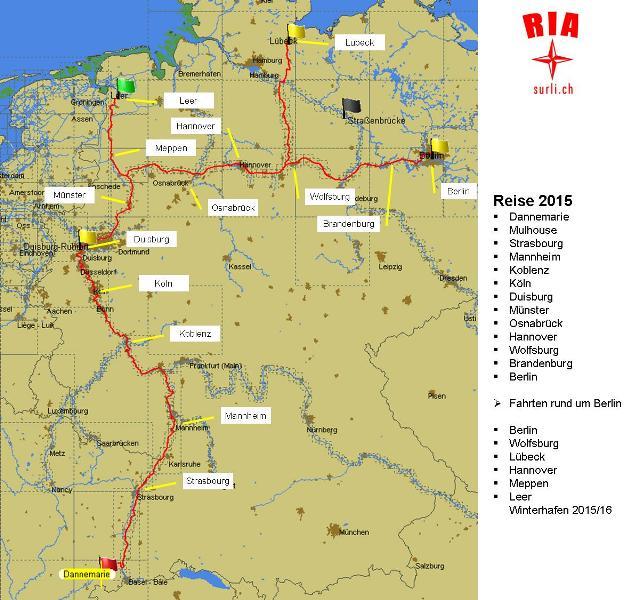 Reise RIA 2015.