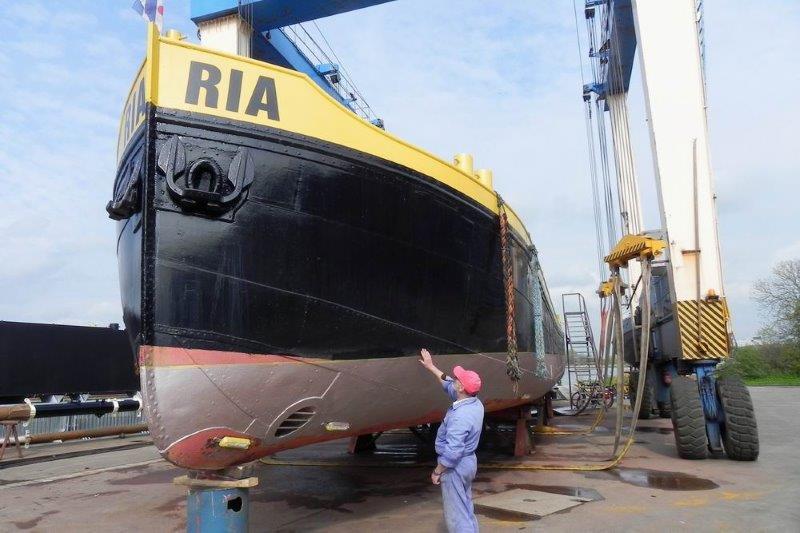 Die RIA 2012 für die Rheinzertifizierung auf der Werft.