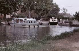 1975 - Erste Kanalbootfahrt im Canal du Midi.