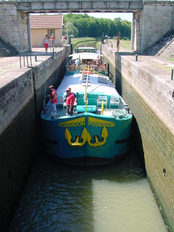 2003 - Peniche Poseidon in der Petit Saône.